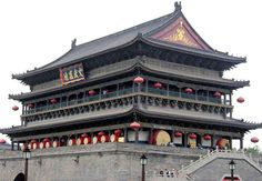 S6E11: Drum Tower, Xi'an China. The Drum Tower was constructed in the year 1380, four years ahead of the Bell Tower in the early era of Ming Dynasty. It was renovated twice in 1699 and 1740. The tower is a two-storied rectangular structure with triple-eave glazed bricks and covering an area of 1,924 square meters. Contrary to the Bell Tower, its early function was to strike the drum at dusk to announce the end of the day.