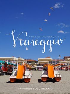 How to spend a day at the beach like a local Italian. Check out the Viareggio Beach in Italy | Two Birds Told Me