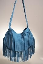 Blue Fringe Shoulder Bag