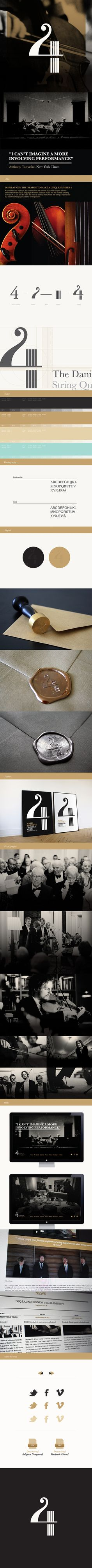 Branding: The Danish String Quartet / Corporate identity by Maibritt Lind Hansen Graphic Design Branding, Corporate Design, Corporate Identity, Identity Design, Visual Identity, Typography Design, Packaging Design, Logo Design, Identity Branding