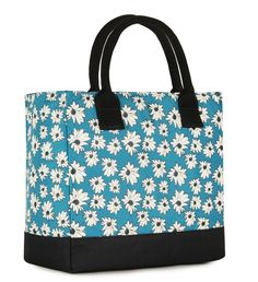 Kate Teal Fl Insulated Lunch Bag By Koko