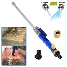 🔥High Pressure Power Washer - Transforms A Garden Hose Into A Pressure Washer. Copper Handles, Pressure Washing, Vinyl Siding, Car Cleaning, Cleaning Hacks, Garden Hose, Garden Sheds, Garden Path, Garden Tools