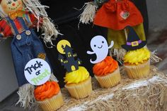 Ghost, Witch Hat,Haunted House and Trick or Treat Halloween Party Cupcake Toppers, Halloween Birthday Party, Halloween Cupcake Toppers