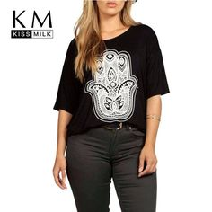 Plus Size Casual Personalized Printing Big Size Half Sleeve T-shirt