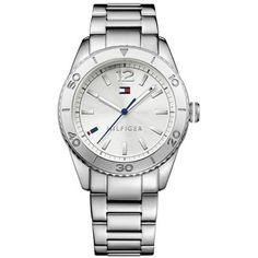 Tommy Hilfiger Women's 1781267 Casual Sport Analog Display Quartz Silver Watch - Jewelry For Her