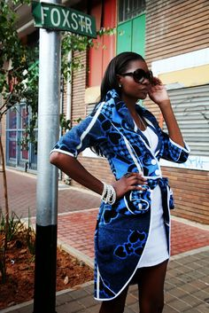 "African Prints in Fashion: ""Beautiful, Sopisticated, African"": Thabo Makhetha African Inspired Fashion, African Print Fashion, Africa Fashion, Tribal Fashion, African Prints, Ankara Fashion, African Attire, African Wear, African Dress"
