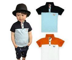 2013 new arrival 100% cotton boy Collar casual children polo shirt free shipping