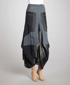 Loving this Black & Gray Jhular Skirt on #zulily! #zulilyfinds