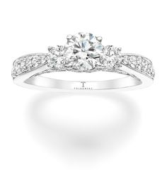 Tolkowsky Diamond Engagement Ring in 14K White Gold. Available in the US through Kay Jewelers.