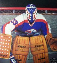 former Winnipeg Jets goalie Doug Soetaert Jets Hockey, Hockey Goalie, Hockey Games, Ice Hockey, San Jose Sharks, Vancouver Canucks, Nhl, Nascar, Hockey Training
