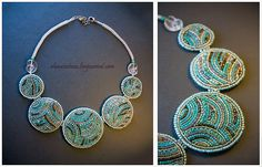 2010-05-14-01 by Alena Izotova, via Flickr Jewelry Art, Beaded Jewelry, Beaded Necklace, Jewelry Design, Jewlery, Bead Embroidery Jewelry, Beaded Embroidery, Seed Bead Projects, Homemade Jewelry