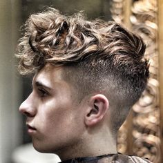 Top 100 Men's Hairstyles & Haircuts For Men www. Source by menshairtrends Undercut Curly Hair, Undercut Men, Curly Hair Men, Undercut Hairstyles, Hairstyles Haircuts, Undercut 2016, Mens Hairstyles 2016, Hairstyles For Teenage Guys, Top Hairstyles For Men