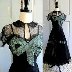 40s/50s Vintage Cocktail Dress by Emma Domb.