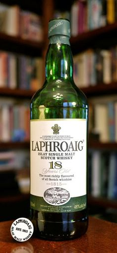 "The Laphroiag 18 Islay Single Malt Scotch Whisky  My Grandmother came from Islay "" Mary Maclean"