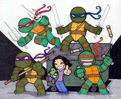 Chibi-Ninja Turtles. by hedbonstudios.deviantart.com on @deviantART