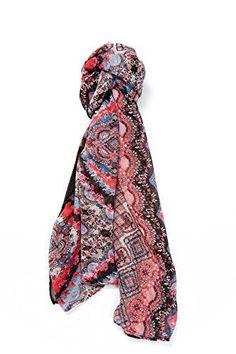 Grand Foulard Écharpe Léger Fantaisie, Motifs Losanges Effet Mousseline Rose Poudré Noir: Tweet DESCRIPTION — Foulard fantaisie effet…