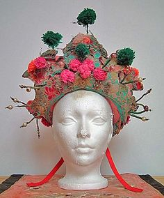 Wow, how beautiful is this? Antique Chinese Qing Dynasty Bridal Crown