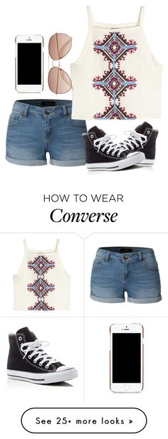 """""""School day"""" by melw44 on Polyvore featuring LE3NO, H&M, Converse and Moschino"""