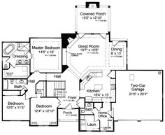 First Floor Plan of Bungalow Traditional House Plan 50054