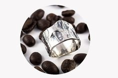 Hey, I found this really awesome Etsy listing at https://www.etsy.com/listing/217498302/silver-handmade-ring-made-with-coffee