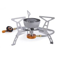 OUTAD Outdoor Foldable Steel Windproof Gas Stove BBQ Burner Mini Camp Hiking Picnic Case Cookware