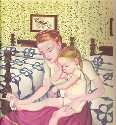 Eloise Wilkin.  This picture is from a book my Mother used to read to me!  I cannot remember the title of the book but I remember the drawing.