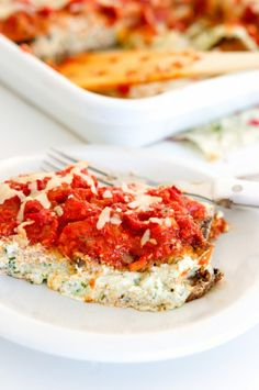 eggplant parm with basil ricotta & sundried tomato sauce.