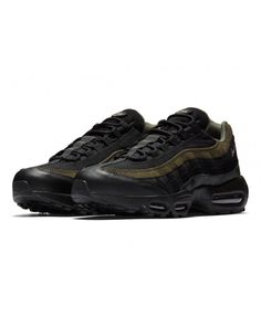 08a324de7f Nike Air Max 95 Hal New Black Medium Olive Trainers Sale Air Max 95 Mens,