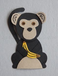 Fox Builder Punch challenge dag 12: Chimpansee Monkey Stampin'Up! https://www.facebook.com/Lysettes.stampin.universe/