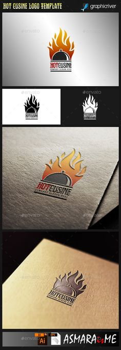 Hot Cuisine  Hot Food logo — Vector EPS #steak #cafe • Available here → https://graphicriver.net/item/hot-cuisine-hot-food-logo/9965057?ref=pxcr