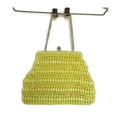 60s Beaded Purse / Mod Purse / Yellow Clutch / Beaded Clutch / Yellow Purse / Kisslock Purse / Mod Handbag / Bead Purse / Beaded Bag / Japan by GoodLuxeVintage on Etsy