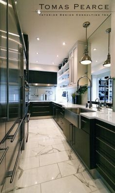 Tomas Pearce Interior Design Consulting Inc Home Design Decor, Luxury Kitchens, Best Interior, Kitchen Flooring, Kitchen Decor, Modern Kitchen, Kitchen Space, Kitchen Interior, Eclectic Kitchen