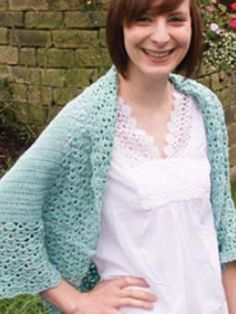 Anna - free crochet shrug pattern by Heike Gittins for Rowan. Free registration required.