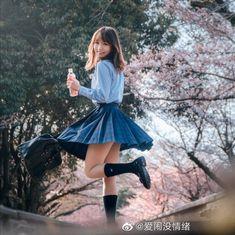 School Girl Fancy Dress, Japanese School Uniform Girl, School Uniform Fashion, Gorgeous Teen, Beautiful Asian Women, Cute Asian Girls, Cute Girls, Girls In Mini Skirts, Cute Japanese Girl