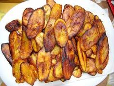 Jamacian Fried Plantains - this and a fork please?..and Back off....get your own fried plantain!!