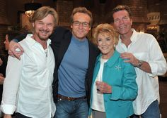 "Doug Davidson and Stephen Nichols Photo - CBS' ""The Young And The Restless"" 38th Anniversary Cake Cutting Ceremony"