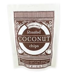 TJ's Roasted Coconut Chips. These look tasty