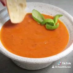 Healthy Eating Made Easy Vegan Tomato Soup, Tomato Soup Recipes, Vegan Soup, Healthy Recipe Videos, Vegan Recipes, Recipes With Vegetable Broth, Healthy Fries, Salad Dishes, Sweet Potato Soup