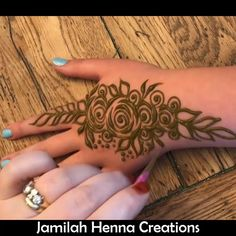 Gulf rose henna video www.JamilahHennaCreations.com