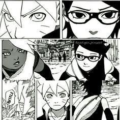 Naruto Gaiden Chapter 3 Boruto Uzumaki, Sarada Uchiha and ChouChou
