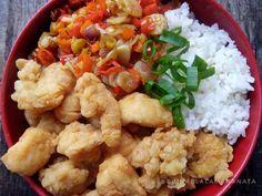 Resep Rice Bowl - Chicken Popcorn with Sambal Matah oleh Eunike Lala Maranata Rice Bowls, Popcorn, Cauliflower, Chicken, Vegetables, Cooking, Food, Teepees, Baking Center
