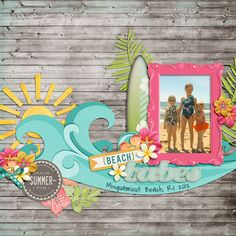 perfect beach scrapbook page!