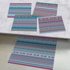 Set of 6 Place mat /& 6 Coasters Table Place Setting Mats Shabby Chic Home Dining