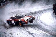 Lancia Stratos HF (High Fidelity) Group 4 Rally in 1974 (Group 5 in before homologation). DOHC Body styling by Marcello Gandini (Bertone). The Stratos Rally car development produced the first purpose bu Bugatti, Maserati, Lamborghini, Ferrari, Alfa Romeo, Vintage Racing, Vintage Cars, Bmw 130i, Nascar