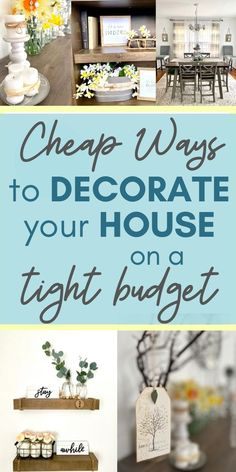 How to Decorate Your House on a Tight Budget {Farmhouse Style! Tight Budget, Diy On A Budget, House Ideas On A Budget, Diy Projects On A Budget, Diy Rustic Decor, Rustic Design, Thrifty Decor, Country Farmhouse Decor, Farmhouse Style
