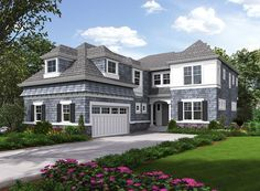 Five Bedroom Shingle Style House Plan - 23578JD | 2nd Floor Master Suite, Bonus Room, Butler Walk-in Pantry, CAD Available, Den-Office-Library-Study, Jack & Jill Bath, PDF, Photo Gallery, Shingle, Traditional | Architectural Designs