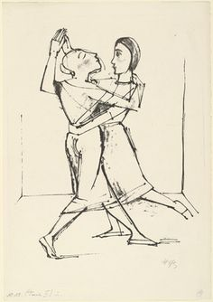 Plate I from the portfolio Dance (Tanz)  Karl Hofer (German, 1878-1955)    (1922). Lithograph