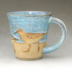 BIRDS & BEACH MUG  Least Sandpiper 1 of 2 by Birdartist on Etsy - Oh my goodness, don't you love this?