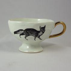 Kuhn Keramik fox teacup