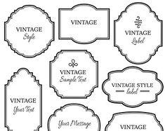 decorative label templates